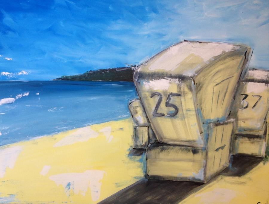 Strandkorb gemalt  Mein Blog